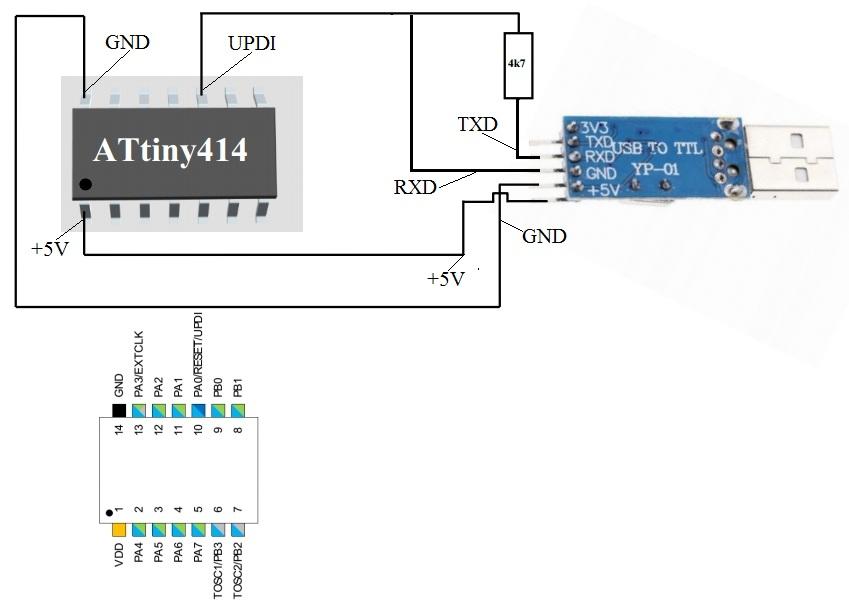 Conect diagramAttiny414